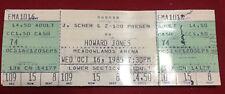 Howard Jones Full Concert Ticket Meadowlands New Jersey Oct. 16 1985