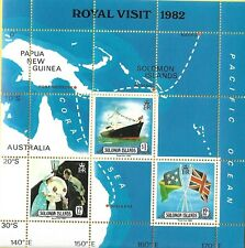 SOLOMON ISLANDS 480A MNH S/S ROYAL VISIT 1982