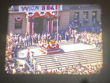 16MM SILENT 1950s HOME MOVIE OF DWIGHT EISENHOWER SPEECH, GREAT COLOR
