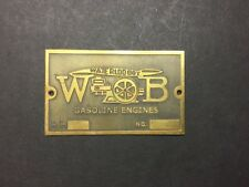 NEW Waterloo Boy Without Oval Etched Brass Tag Antique Hit  Miss Gas Engine