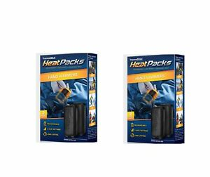 Thermacell Heat Packs Hand Warmer USB Recharged Size SMALL 2 Sets of 2 Packs