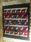 "antique peruvian hand woven rug Llama Alpacca pictorial design 82x62"""