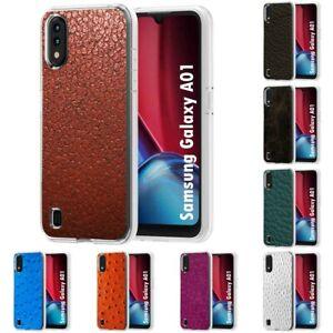 TPU Phone Case for Samsung Galaxy A01,A20,A618,A10E,Skin Classic Print