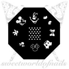 Disney Mickey Minnie Mouse Nail Art Stamping Plate