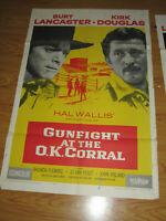 Gunfight at the O.K. Corral Original 1sh Movie Poster '57 Burt Lancaster, Kirk