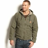Carhartt Men's Big & Tall Sherpa Lined Sandstone Sierra Jacket J141 - Size 3XL