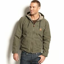 Carhartt Men's Big & Tall Sherpa Lined Sandstone Sierra Jacket J141 - Size 3XL