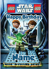 - LEGO STAR WARS - IDEAL FOR SON NEPHEW CHILDREN'S PERSONALISED BIRTHDAY CARD