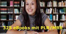 325 Deutsche PLR / MRR eBooks im Mega Paket - 107 PLR + 218 MRR - NEU