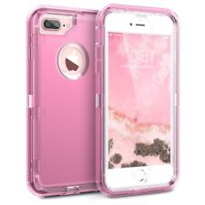 For iPhone Samsung Transparent Defender Case Clear Inspired Holster Fit Otterbox