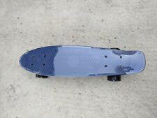 "22"" Plastic Deck Street Skateboard Retro Wave Cruiser Banana penny board blue"
