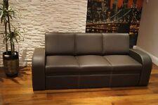 Echtleder Rindsleder Sofa Couch mit Schlaf Funktion 100%  Echtes Leder