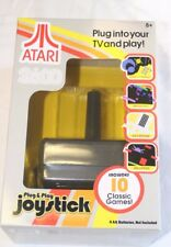 ATARI 2600 PLUG AND PLAY JOYSTICK INCLUDES 10 CLASSIC GAMES BRAND NEW IN BOX