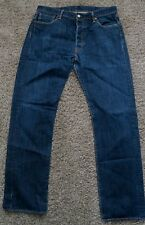 Levi's Men 501 Original Fit Straight Leg Button Fly Jeans Hook Blue W36 L32