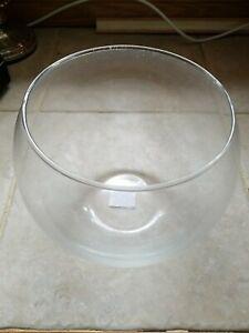 "Libbey Glass Crisa Bubble Ball Bowl Clear 8"""