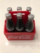 Coca-Cola Magnet Vintage Soda Six Pack Bottles in Coke Carrier Case