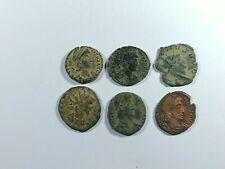 Lote 6 Monedas Romanas Aureliano, Galieno, Graciano, Constancio... MBC