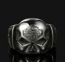 Harley Davidson Biker Edelstahl Ring Schmuck Skull + B&S Gr. 8 -14 NEU