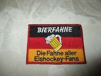 """Deutschland Eishockey Aufnäher """"BIERFAHNE Die Fahne aller Eishockey-Fans"""" TOP"""