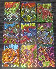 1994 Marvel Pepsi Spanish/Mexico PRISM Set of 9 Cards NM/M RARE! PRISMA Universe