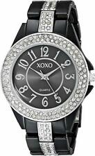XOXO Women's XO5461 Rhinestone Accent Black Analog Bracelet Watch