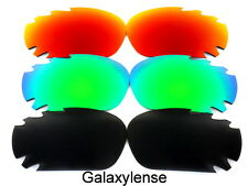 Galaxy Replacement Lenses For Oakley Racing Jacket Black&Green&Red 3Pairs