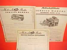 1941-1949 MOTOROLA CHASSIS 8A RADIO + TUNER AT-58 SERVICE MANUALS PONTIAC OLDS