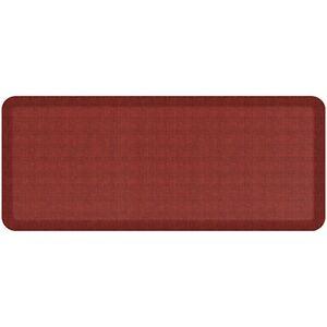 NewLife by GelPro Designer Comfort Kitchen Floor Mat 20x48 Tweed Barn Red