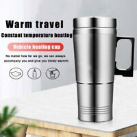 24V Stainless Steel Car Heating Cup Thermal Mug for Traveling Heating Cup ONY