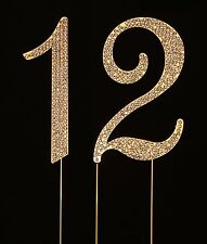 Numbrer 12 for 12th Birthday or Anniversary Cake Topper Party Decoration Supp...