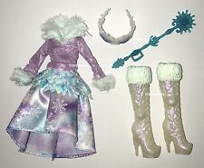 Ever After High Epic Winter Crystal Doll Outfit Clothes Dress & Shoes NEW Boots