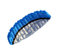 2.5m Dual Line Stunt Parafoil Parachute BLUE Sport Beach Kite For Beginners