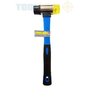 30mm Mini Small Fibreglass Handle Rubber And Nylon 2 Face Hammer Mallet Tool