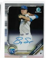 2019 bowman chrome prospect auto Brady Singer Kansas city royals CPA-BS