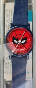 1989 blue Tochigi SPIDER-MAN  Wrist Watch Analog Quartz  w org. box instructions
