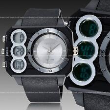 OHSEN Mens Army Military Digital Analog Light Quartz Sport Run Wrist Watch White