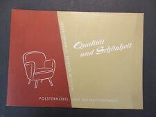 Katalog WILHELM SCHÄFER POLSTERMÖBEL- UND MATRAZENFABRIK um 1955 Letmathe