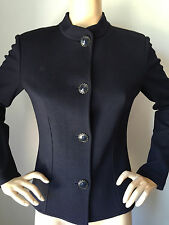 NEW ST JOHN KNIT S WOMENS JACKET NAVY BLUE RESORT JACKET