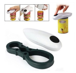 Electric One Touch Can Open Cordless Battery Operated Tin Bottle Opener