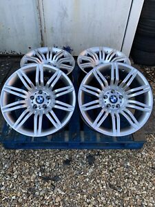 """19"""" BMW Spider Style Alloy Wheels Only Hyper Silver to fit BMW 5 Series E60 E61"""