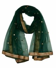 Women Self Design Net Dupatta Tippet Scarf Traditional Wear