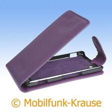 Flip Case Etui Handytasche Tasche Hülle f. Sony Xperia M (Violett)