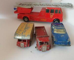 Matchbox ERF Horse box , ERF Truck,  superkings fire engine, lotus europa