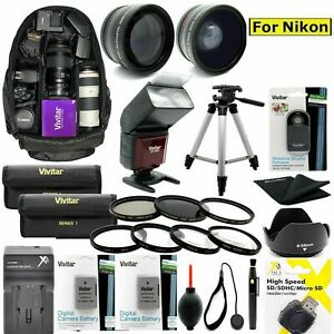 COMPLETE ACCESSORY KIT FOR Nikon Z6 Mirrorless Digital Camera with 24-70mm Lens