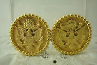 Vintage Mimi di N Gold Plated American Eagle Great Seal of US 1975 Belt Buckle
