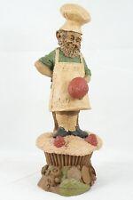"Vtg 1987 Tom Clark Gnome Elf Dwarf Figurine ""Baker"" #50 Cupcake Berries Apron"