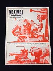 1962 EDELSTAAL MAXIMAT MINIATURE PRECISION METAL-WORKING MACHINE TOOL BROCHURE