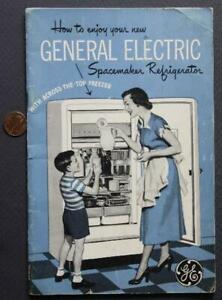 1950-60s Era GE-General Electric Modern Spacemaker Refrigerators booklet-SCARCE!