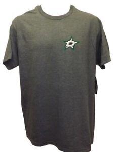 New Dallas Stars Mens Sizes M-2XL Gray G-III 2-Sided Shirt