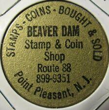 Vintage Beaver Dam Stamp Coin Point Pleasant, NJ Wooden Nickel Token New Jersey